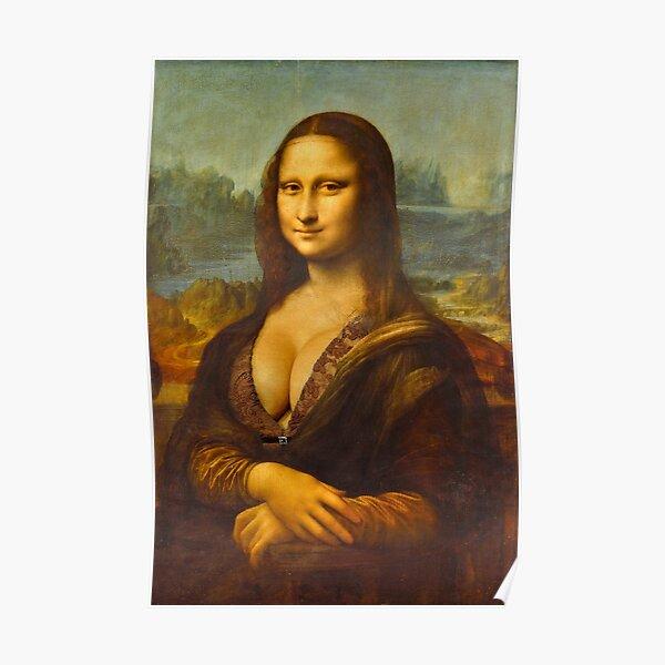Mona Lisa Big Boobs Parody Poster