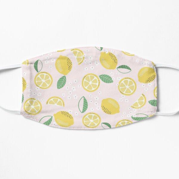 Lemon Floral Pattern  Flat Mask