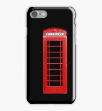Red Telephone Box iPhone Case/Skin