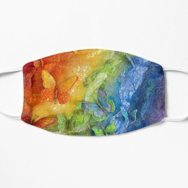 Rainbows and Butterflies Flat Mask
