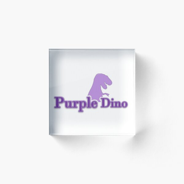 The Purple Dino Acrylic Block
