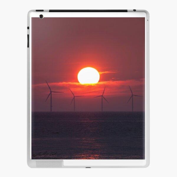 Windfarm sunset iPad Skin