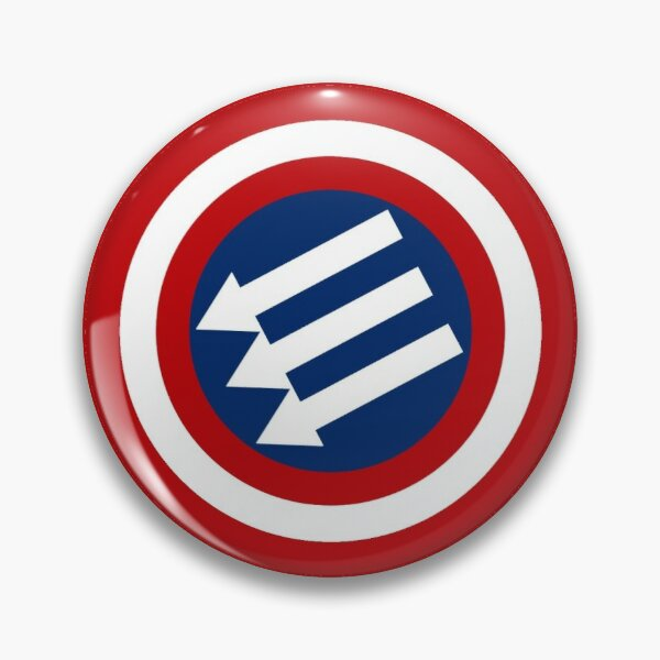 American Iron Front Emblem  Pin