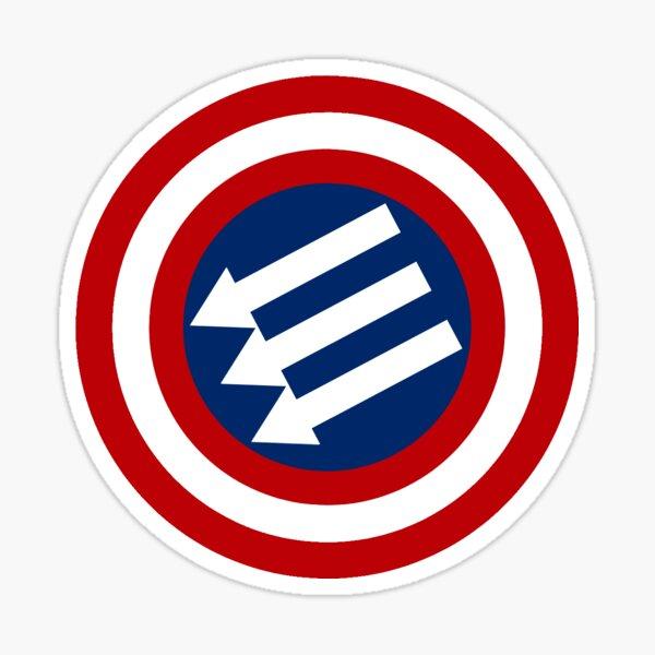 American Iron Front Emblem  Sticker