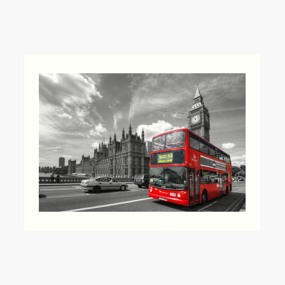 London Big Ben & Red Bus Art Print