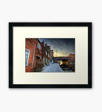 Snowy Canal Footpath Framed Print