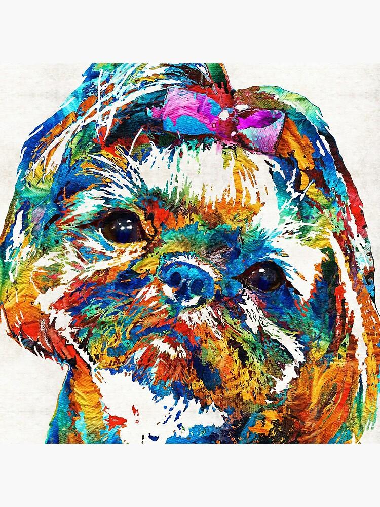 Colorful Shih Tzu Dog Art by Sharon Cummings by SharonCummings