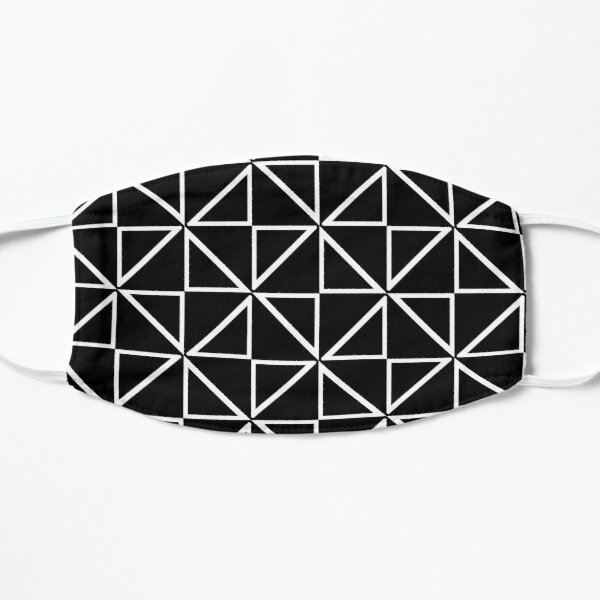 Black And White Triangle Pattern Mask