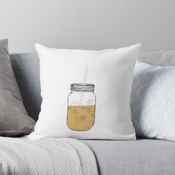 love iced coffee Throw Pillow