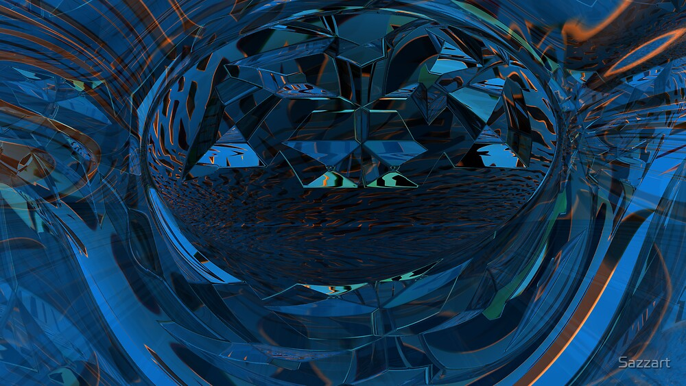 Abstract Digital Painting #14  Genesis by Sazzart