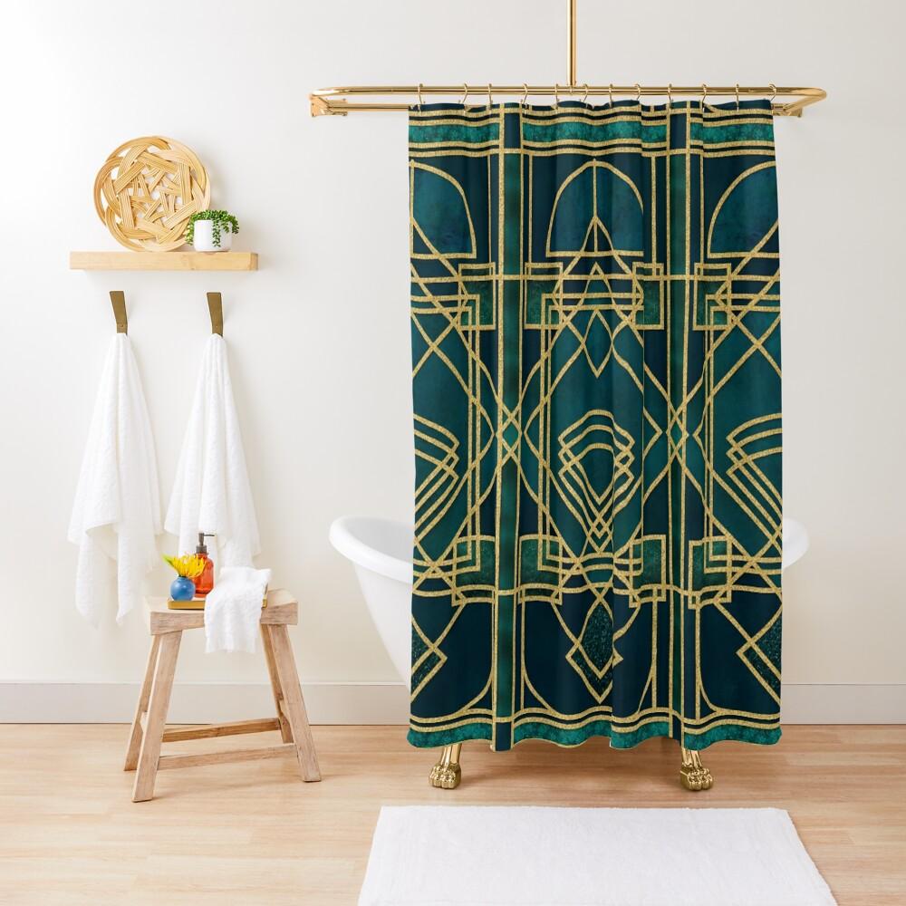 Art Deco Elegant Gatsby Style Shower Curtain