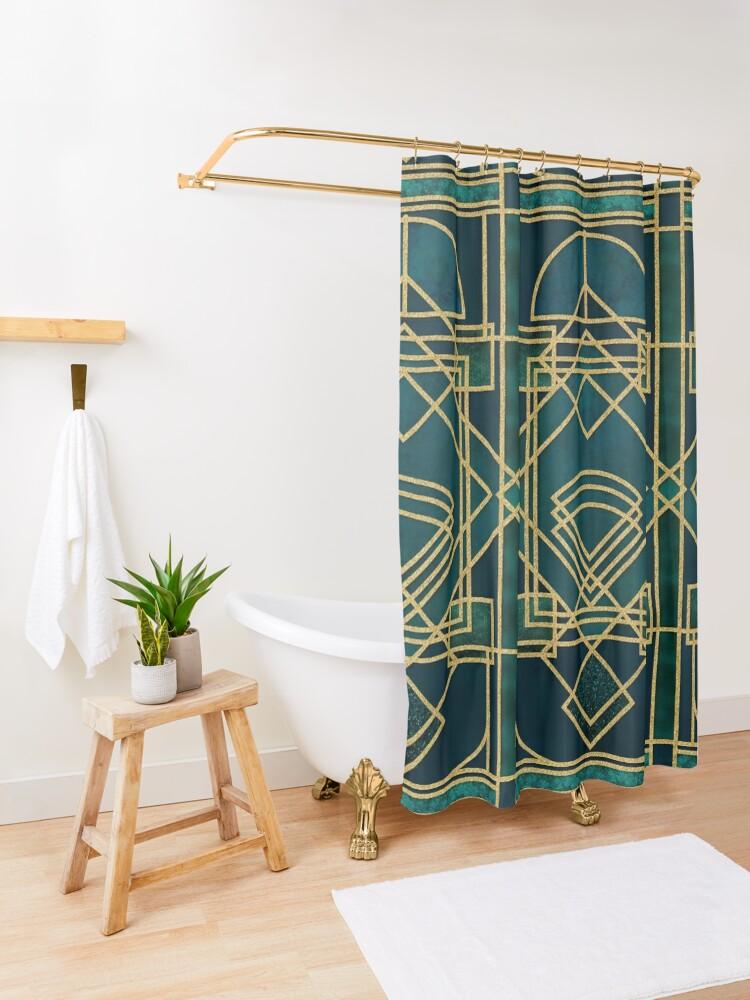 Alternate view of Art Deco Elegant Gatsby Style Shower Curtain