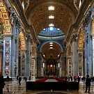 St Peter`s Rome - The Nave by John Dalkin