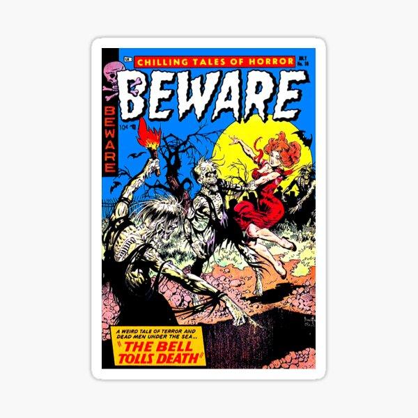 Beware Comic Sticker