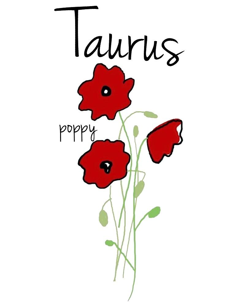 Taurus Horoscope Flower Art Greeting Card By Goldendaisies Redbubble