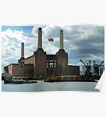 Battersea Power Station( pihk floyd pig) no.4 Poster
