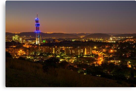 Pretoria at night #9 by Rudi Venter