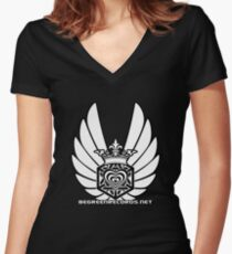 Winged Tetra Knot Heart 1 April 2012 BGR Women's Fitted V-Neck T-Shirt