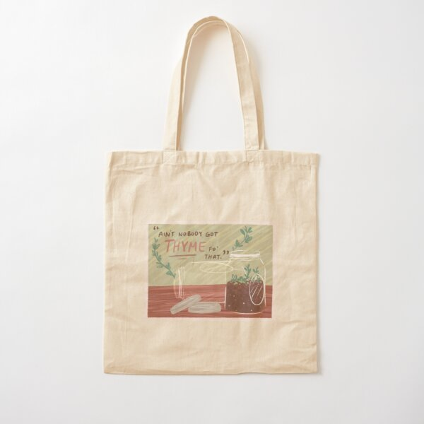 thyme to grow Cotton Tote Bag