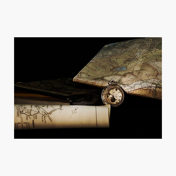 Time for maps Photographic Print