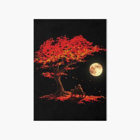 Autumn Moon Art Board Print