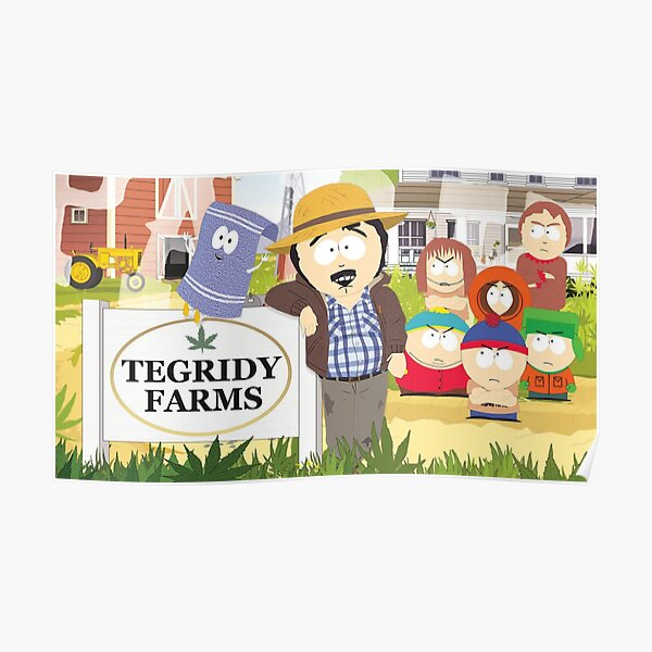 Tegridy Farms Randy Marsh South Park Poster