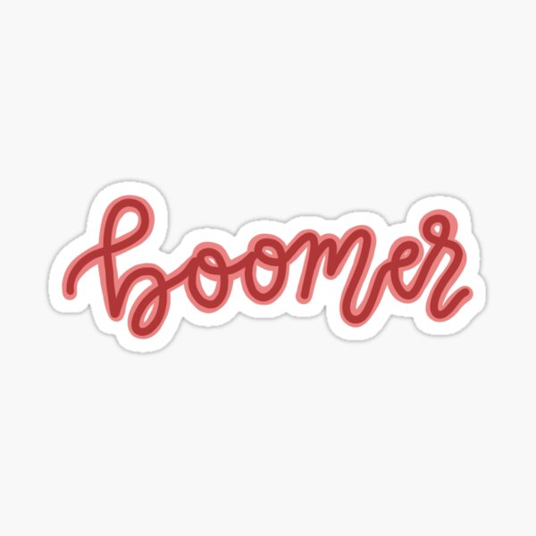 """boomer"" calligraphy Sticker"