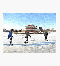 Ice Skaters Photographic Print