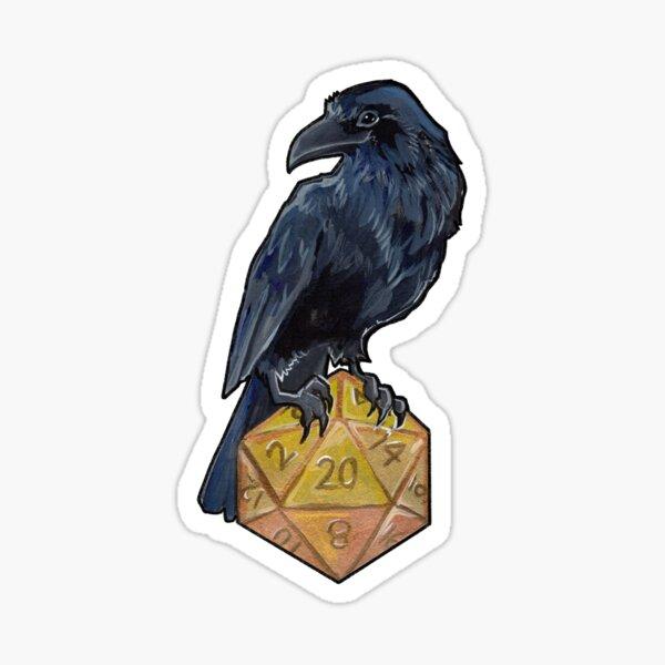 Raven d20 Sticker