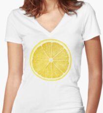 Slice of lemon Women's Fitted V-Neck T-Shirt