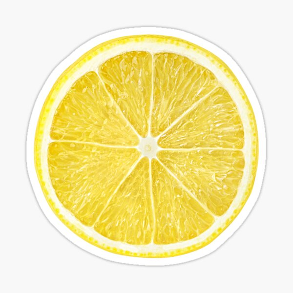 Slice of lemon Sticker
