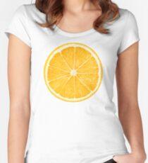 Slice of orange fruit Women's Fitted Scoop T-Shirt