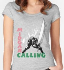 Midgar Calling Women's Fitted Scoop T-Shirt