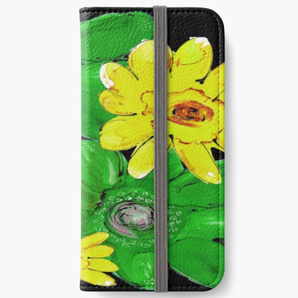 GREEN & YELLOW FLORAL iPhone Wallet