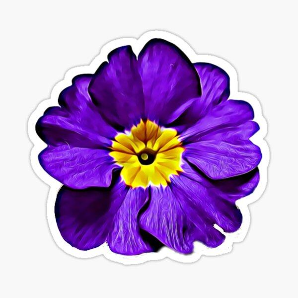 Purple Primula Primrose Oil Painting Style Pattern Gifts Sticker