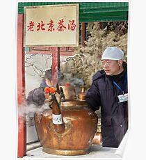 Man & big kettle Poster