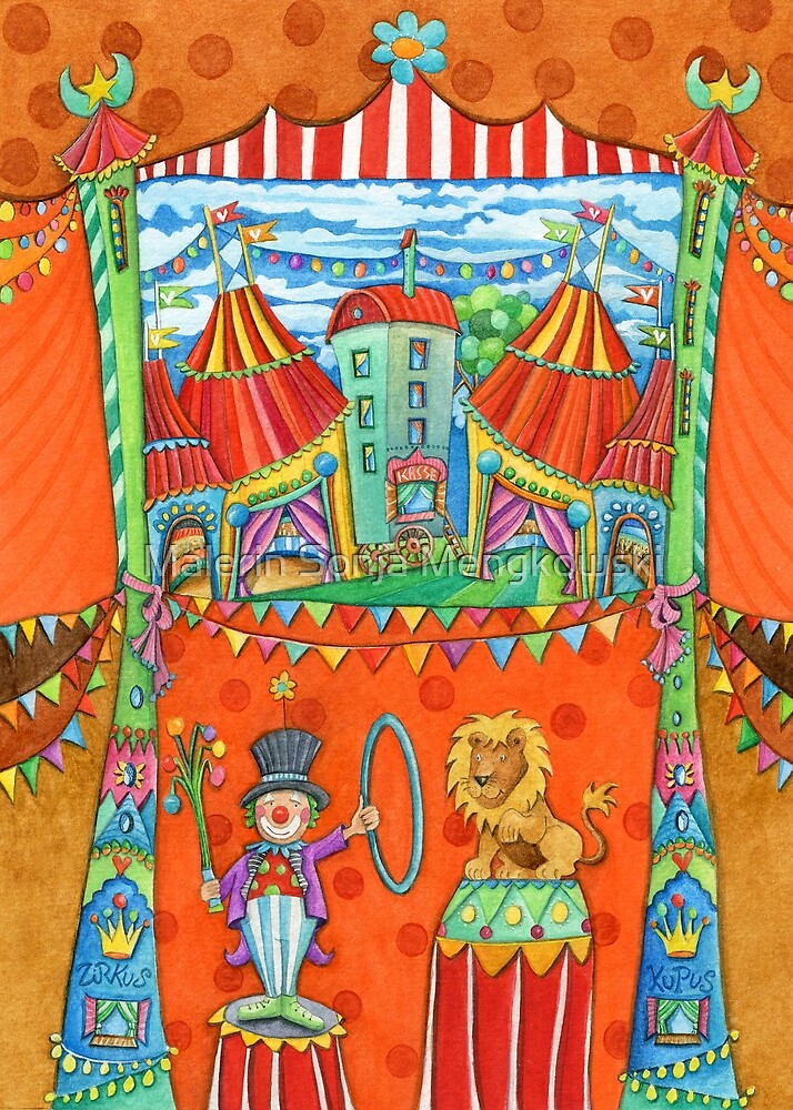 art for kids - circus kupus by Malerin Sonja Mengkowski