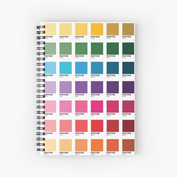 Schattierungen von Pantone-Farben Spiralblock
