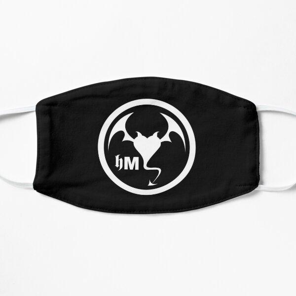 Hollywood Monsters Circle Bat Logo - WHITE PRINT Flat Mask