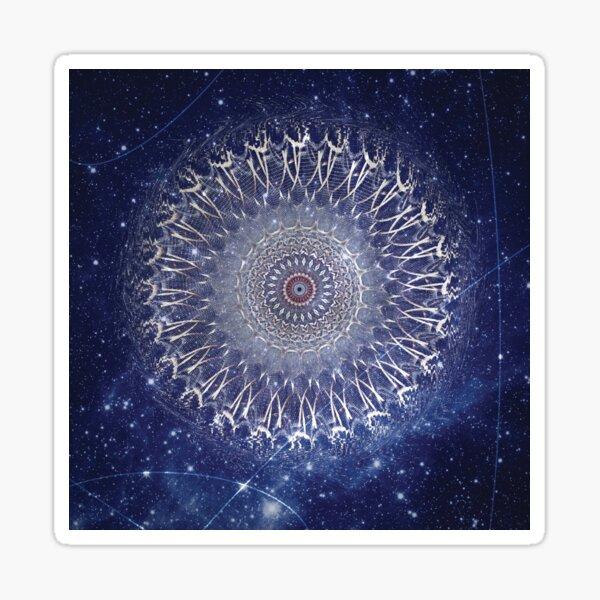 Wormhole - Abstract Space Mandala Sticker