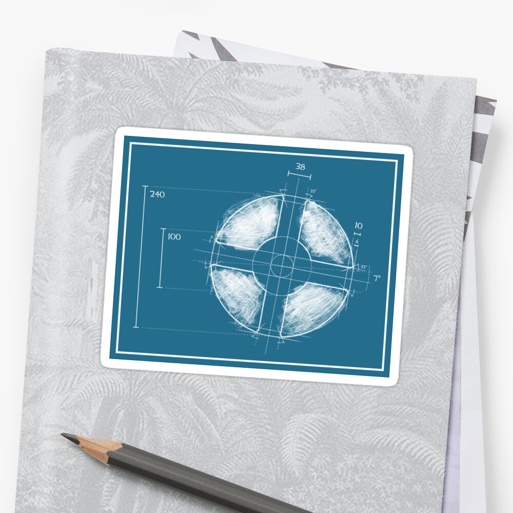 Blue team fortress logo blueprint stickers by defstar redbubble blue team fortress logo blueprint malvernweather Gallery