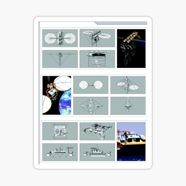 Space Elevator Triptych Sticker