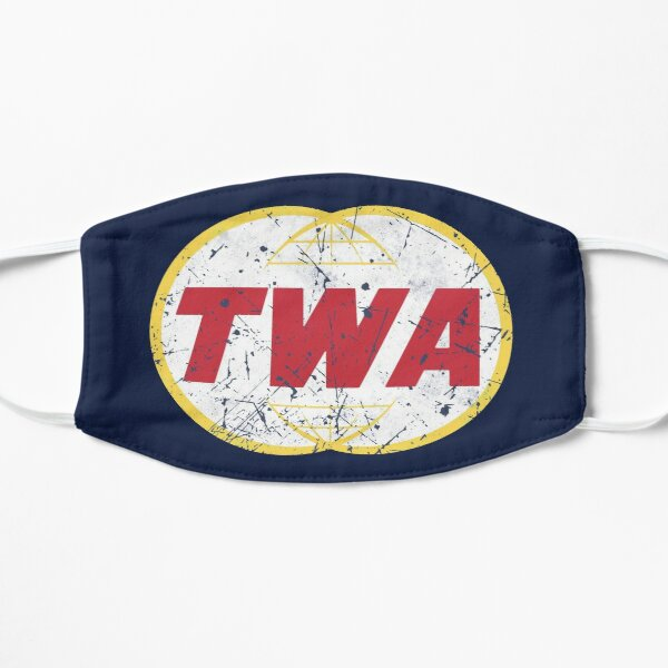 TWA Aviation Airline Vintage Logo  Mask