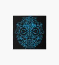 Robot Skull - blue Art Board