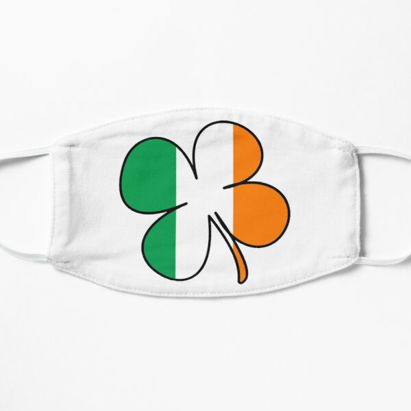 Ireland Flag Shamrock Irish Four Leaf Clover  Mask