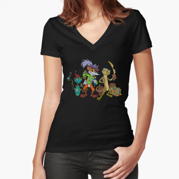 TonyToons Random Pirate Characters Fitted V-Neck T-Shirt