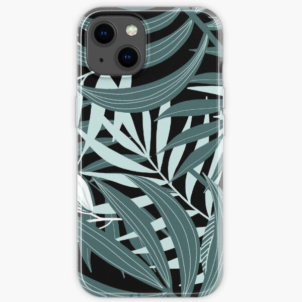 Tropical botanical leaves iPhone Soft Case