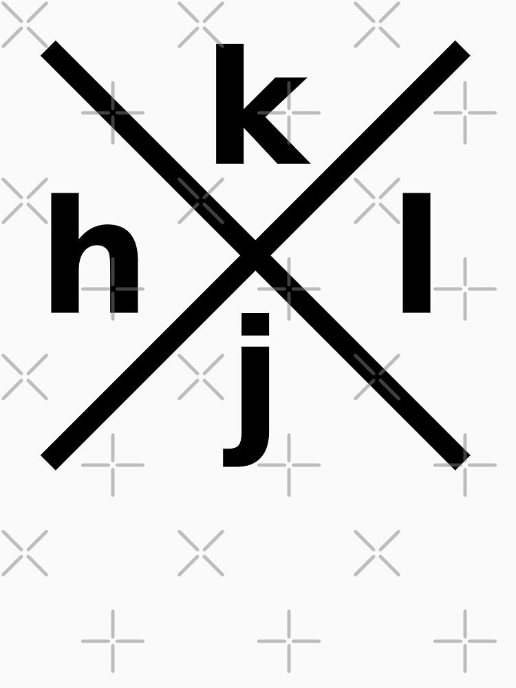 hjkl Design for Programmers Using vi/Vim - Black Graphic by ramiro
