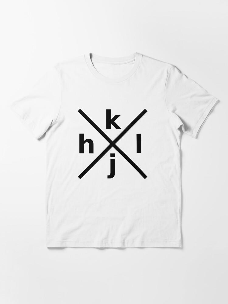 Alternate view of hjkl Design for Programmers Using vi/Vim - Black Graphic Essential T-Shirt