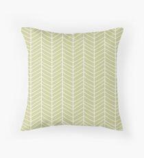 Chevron Green Throw Pillow